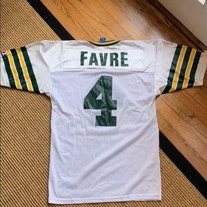 best authentic 57190 c1537 Champion [Size: 40] Brett Favre White Jersey